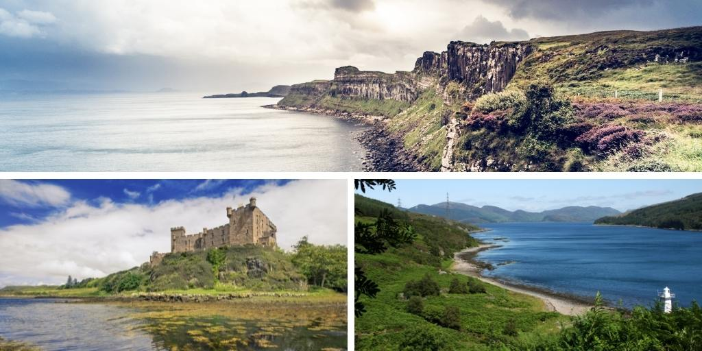 Collage of photos of the Isle of Skye