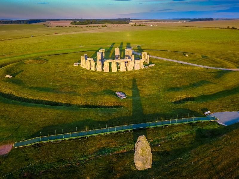Stonehenge aerial shot.