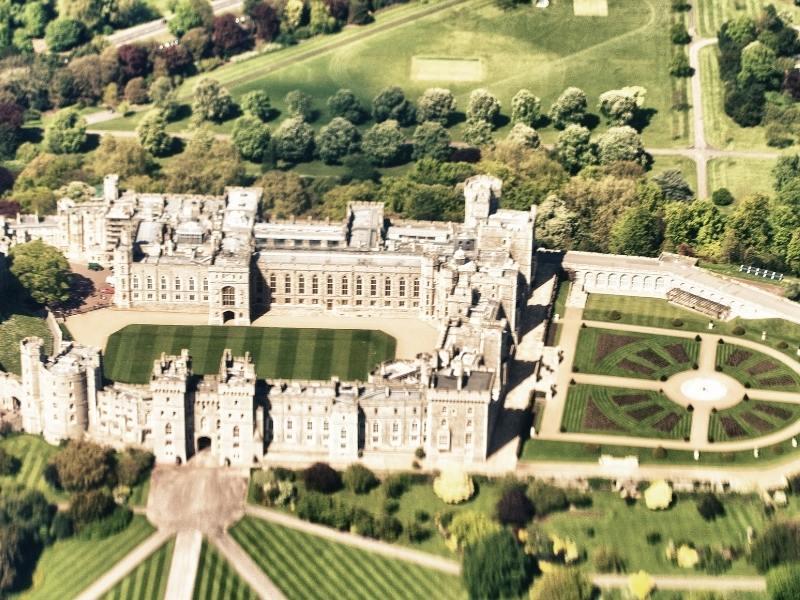 Windsor castle aerial shot.