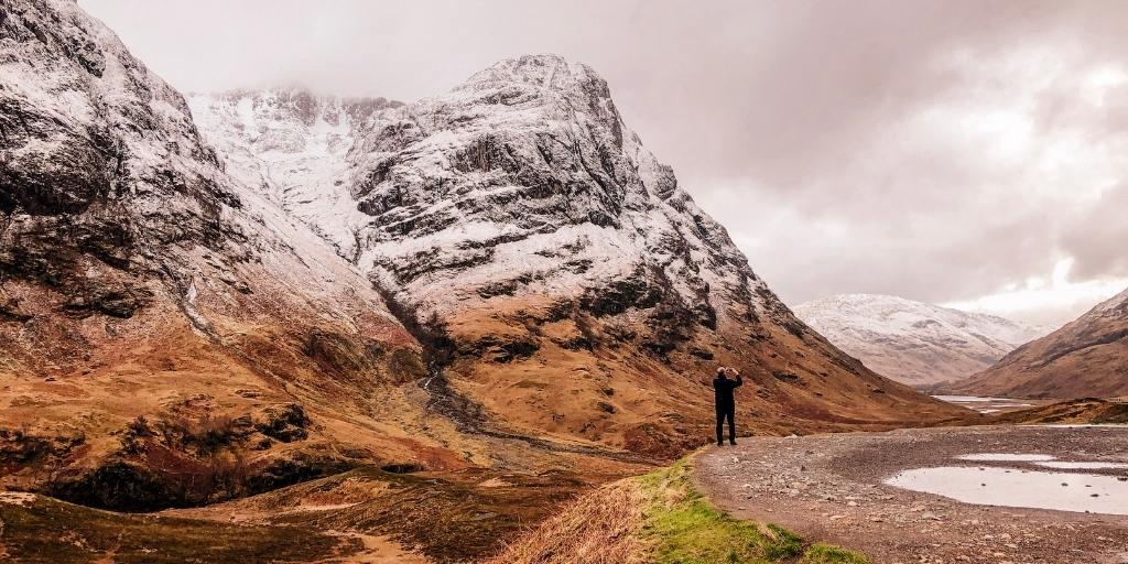 Glencoe in Scotland in winter